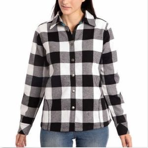 Orvis Ladies' Fleece Lined Shirt Jacket - Black/Wh